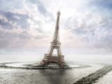 Eiffel Tower Clouds Crack Quagmire Swamp