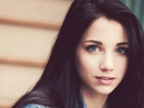 Emily Rudd Brunette Blue Eyes Face Hair Eyes