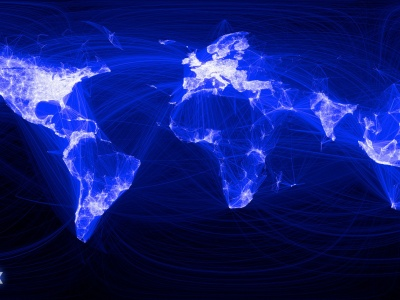 Facebook Map Connections World (click to view)