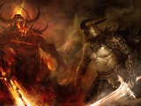 Fantasy Good Vs Evil Warrior