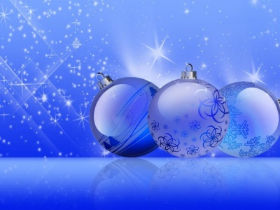 Festive New Year Twinkling Noliday Blue Background