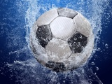 Football Ball In The Water