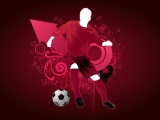 Football Player Vector Design