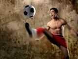 Footballer Kick A Ball