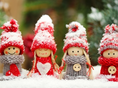 Four Winter Dolls (click to view)