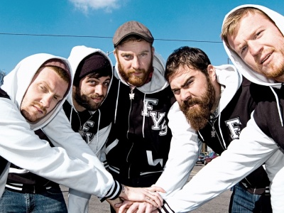 Four Year Strong Sunlight Smocks Band Team