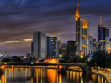Frankfurt Am Main Germany Building River City Landscape