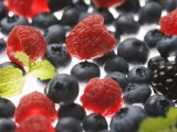 Fruits Food Raspberries Blueberries