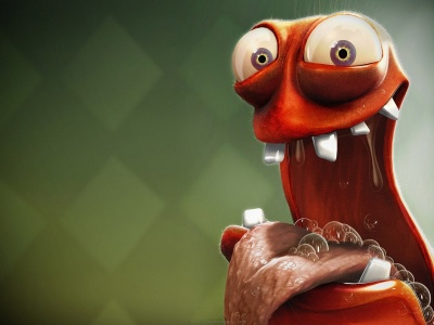 Funny And Hungry 3D Creature (click to view)