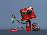 Funny Red Robot