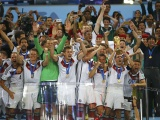 German Players Celebrate Title Of WC