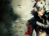 Girl Soldier Feathers Birds Hieroglyph
