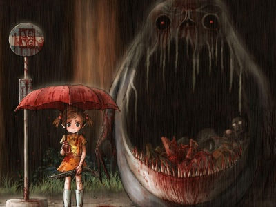 Girl Umbrella Pistol Monster (click to view)