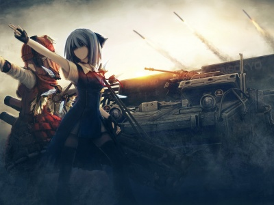 Girls Tanks Missiles Weapons Touhou War Sisters (click to view)