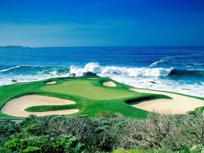 Golf Court Beach Mountains Scenic (click to view)