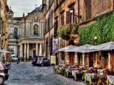 Good Morningrome Alley Architecture Beautiful Buildings Cafe City Colorful Flowers Houses Italy Morning Nature Old Peaceful Roma Sky Street