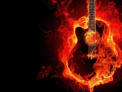 Guitar On Fire (click to view)