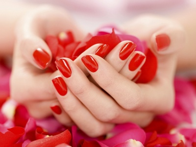 Hand Petals Rose Manicure Mood (click to view)