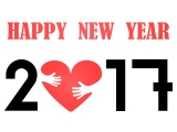 Happy New Year 2017 Heart