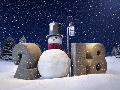 Happy New Year 2018 Snowman (click to view)