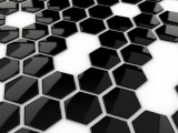 Hexagons Black White