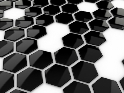 Hexagons Black White (click to view)