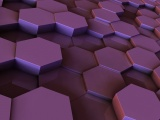 Hexagons Purple