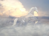 Horse Ghost Clouds Sky