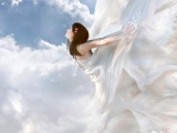 I Believe I Can Fly Believe Cloud Day Dress Fantasy Girl Sky Sun White