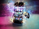 iPhone 4g With Shining Multi Color Background 3D Gaming Hd