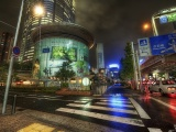 Japan Street Road Night Metropolis City Landscape