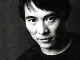 Jet Li Face Eyes Brunette Celebrity Man Actor Black White