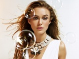 Keira Knightley Brunette Face Bubbles Decorations