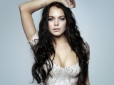 Lindsay Lohan Brunette Hair Clothes Tattoos Style Dress Corset