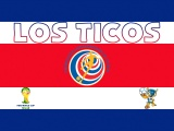 Los Ticos Costa Rica Football Crest