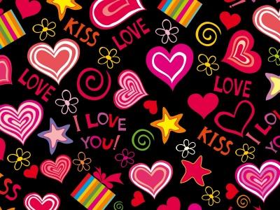 Love Hearts Valentine Wallpaper