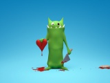 Love Monster Funny Hearts