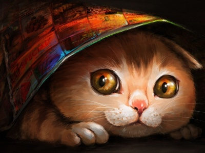 Lovely Cat Painting1 (click to view)
