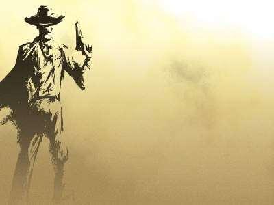 Man Cowboy Guns Wallpaper (click to view)