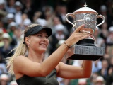 Maria Sharapova With The Trophy