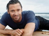 Men Male Celebrity Hugh Jackman On The Beach