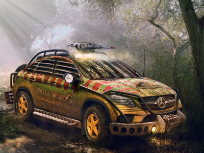 Mercedes Benz GLE Jurassic World (click to view)