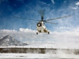 Mi 8 Helicopter Over The Snow
