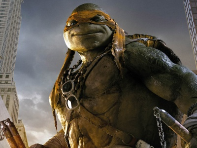 Mikey In TMNT 2014 Movie