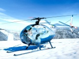 Mini Helicopters On The Snow Capped Mountain