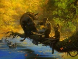 Minotaur And Elves Artwork Autumn