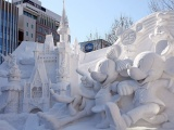 Monument Mickey Mouse Fortress Sapporo Snow Festival Japan