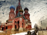 Moscow Cloud St Basils Cathedral City Landscape