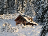 Mountain House Covered With Snow