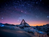 Mountains Stars Tilt Shift Space